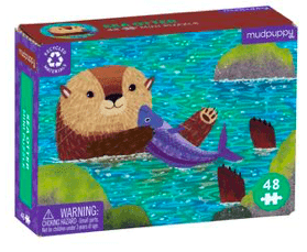 Mudpuppy 6 Plus Sea Otter 48 Pc Mini Puzzle