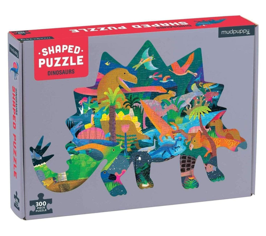 Mudpuppy 7 Plus 300 Pc Shaped Puzzle - Dinosaur