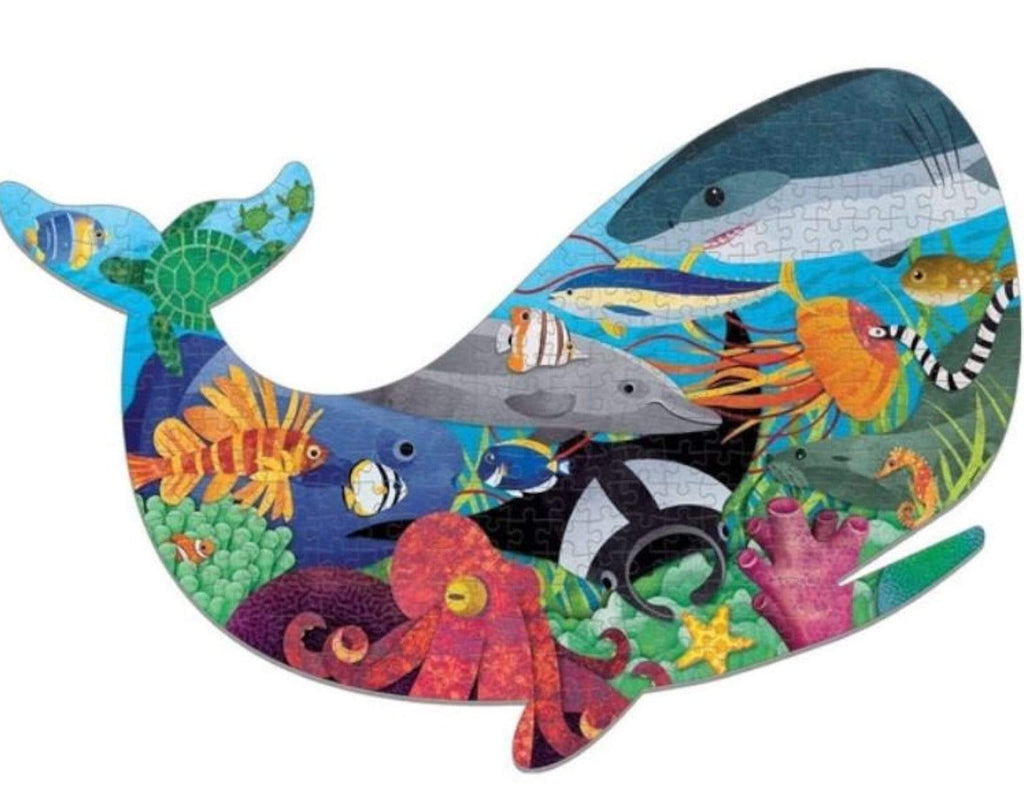 Mudpuppy 7 Plus 300 Pc Shaped  Puzzle - Ocean Life