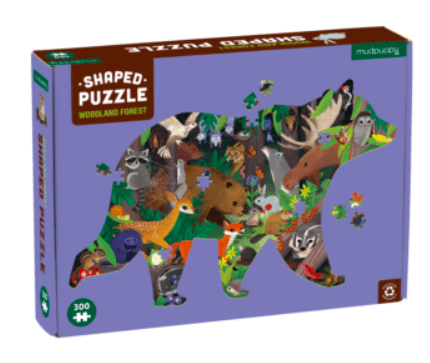 Mudpuppy 7 Plus 300 Pc Shaped Puzzle - Woodland Forest