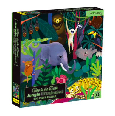 Mudpuppy 8 Plus 500 Pc Puzzle - Glow in the Dark Jungle