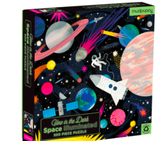 Mudpuppy 8 Plus 500 Pc Puzzle - Glow in the Dark Space