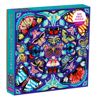 Mudpuppy 8 Plus 500 Pc Puzzle - Kaleido Butterflies
