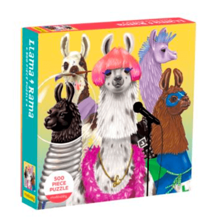 Mudpuppy 8 Plus 500 Pc Puzzle - Llama Rama