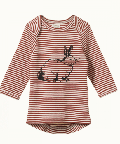 Nature Baby 0-3 Months to 2 Yrs Burlón Bunny / 0-3M Simple Tee