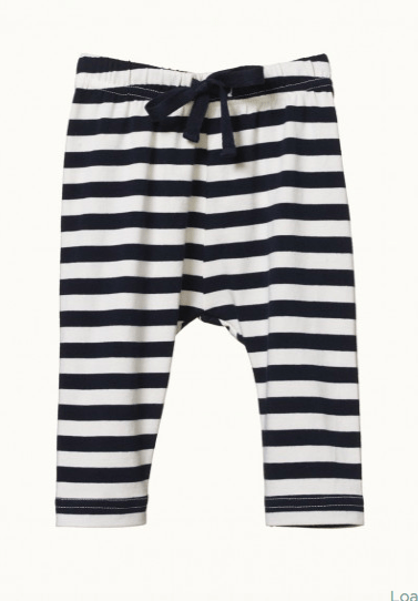 Nature Baby 0-3 Months to 2 Yrs Navy Sea Stripe / 0-3M Sunday Pants