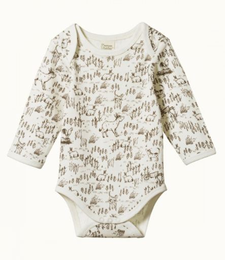 Nature Baby 0-3 Months to 6-12 Months Barnyard / 0-3M Long Sleeved Bodysuit AW20