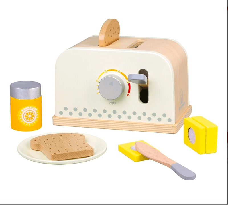 New Classic Toys 3 Plus Toaster Set (White)