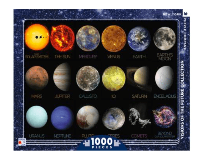 New York Puzzle Company 10 Plus 1000 Pc Puzzle - The Solar System