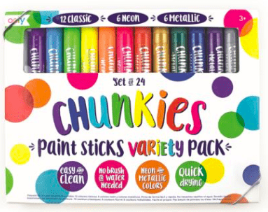 Ooly 3 Plus Paint Sticks - 24 Chunkies