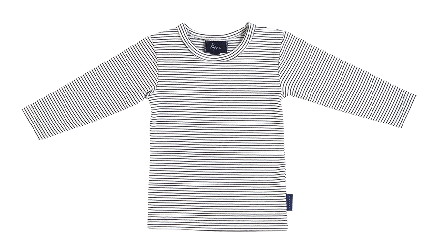 Pappe 0 to 3 Black/White Stripe / 0 Putney Tshirt LS