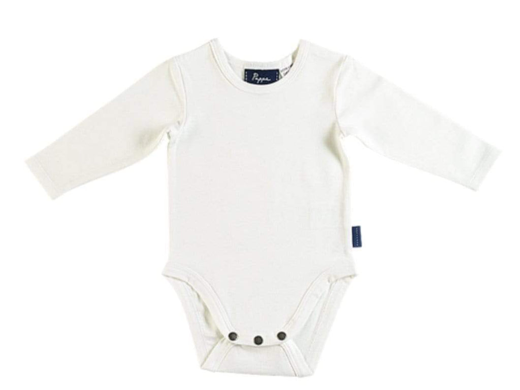 Pappe 000 to 1 White / 000 Nimmy Luxe Organic Onesie - LS