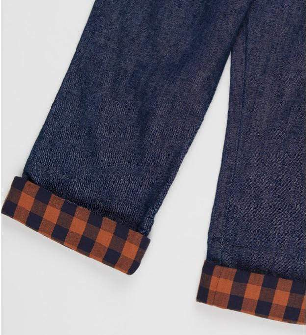 Pappe 1 to 3 Navy Check / 1 Chipper Jean
