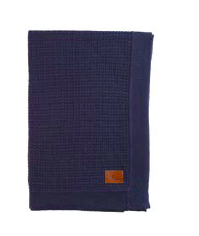 Pappe Birth Plus Navy Knipton Waffle Blanket