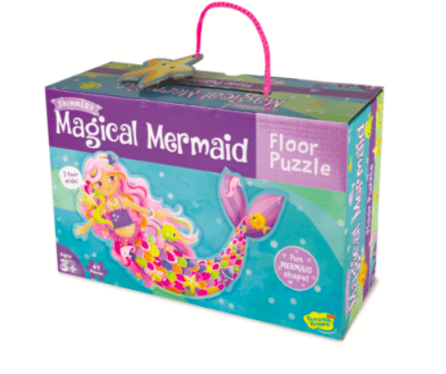 Peaceable Kingdom 3 Plus 41 Pc Floor Puzzle - Magical Mermaid