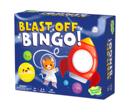 Peaceable Kingdom 3 Plus Blast Off Bingo