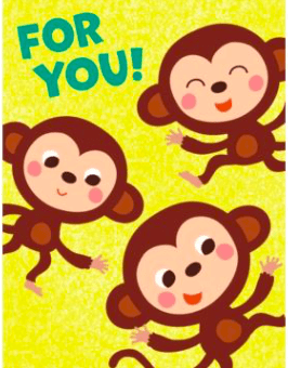 Peaceable Kingdom Greeting Cards Gift Enclosure - Monkeys