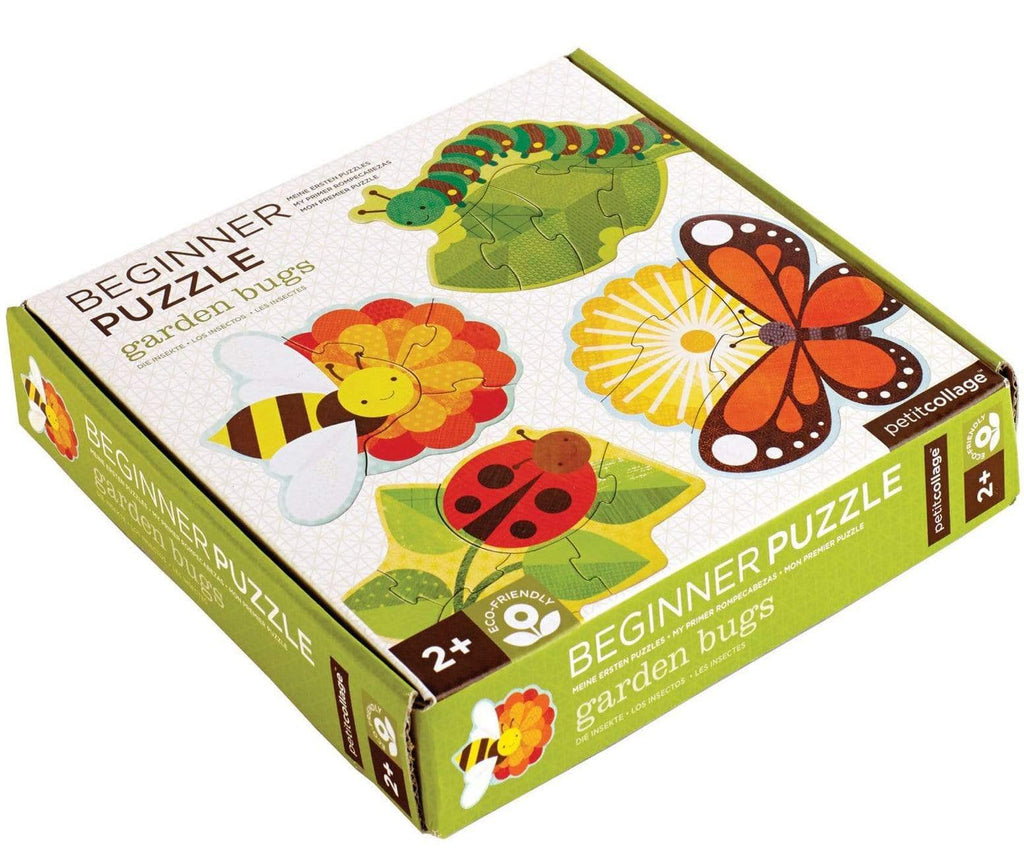 Petit Collage 2 Plus Beginner Puzzle 4 Puzzles - Garden Bugs