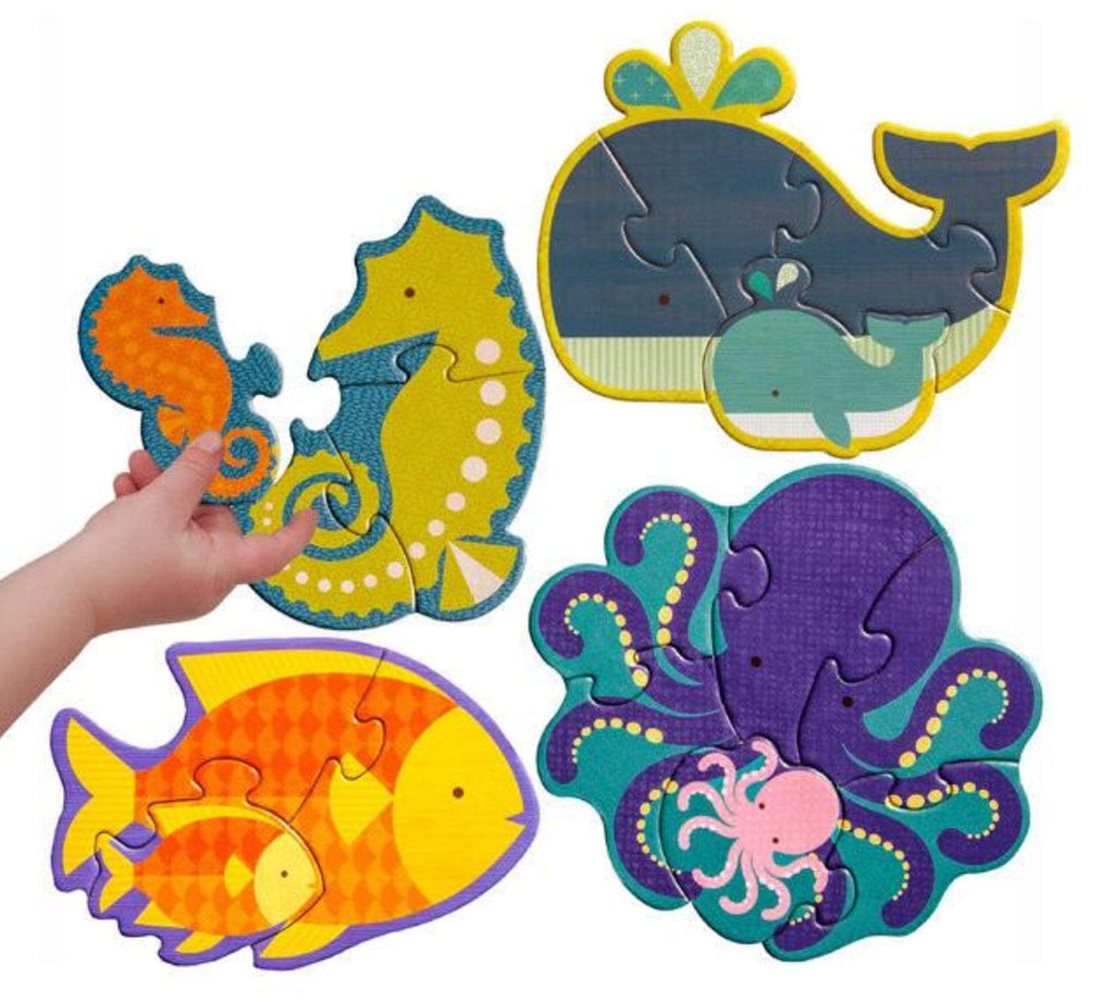 Petit Collage 2 Plus Beginner Puzzle 4 Puzzles - Ocean Babies