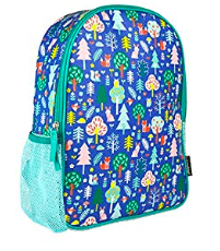 Petit Collage Back Pack in Woodland Blue with Animals and Woodland Scene
