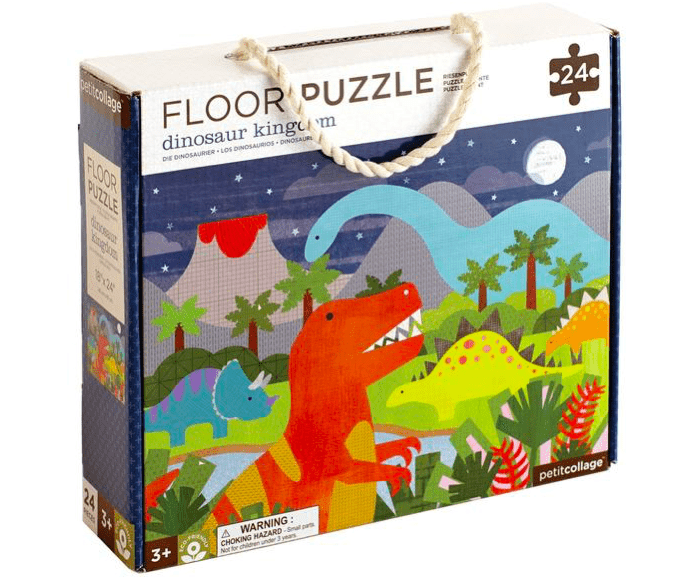 Petit Collage 3 Plus Floor Puzzle 24 Pieces - Dinosaur