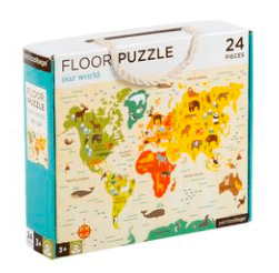 Petit Collage 3 Plus Floor Puzzle  24 Pieces - Our World