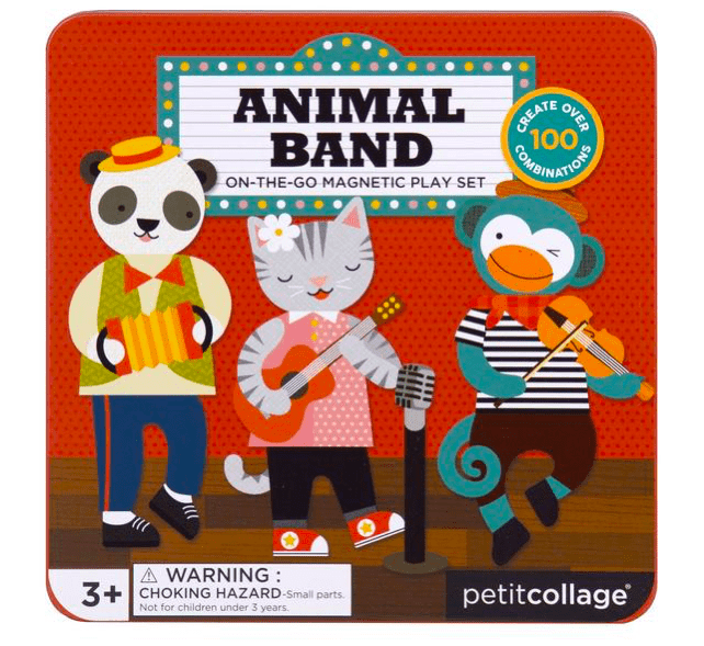 Petit Collage 3 Plus Magnetic Play Set - Animal Band