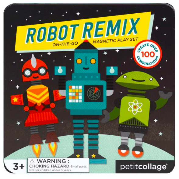 Petit Collage 3 Plus Magnetic Play Set - Robot Remix