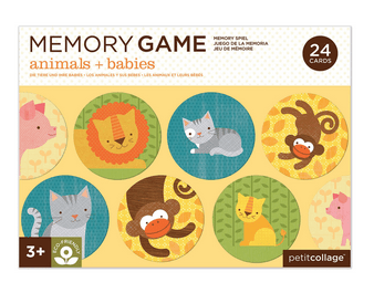 Petit Collage 3 Plus Memory Game - Animals and Babies