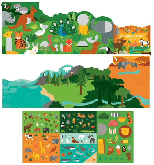 Petit Collage 3 Plus Sticker Activity Set - My Animal World