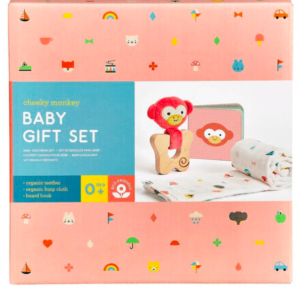 Petit Collage Birth Plus Cheeky Monkey Gift Set