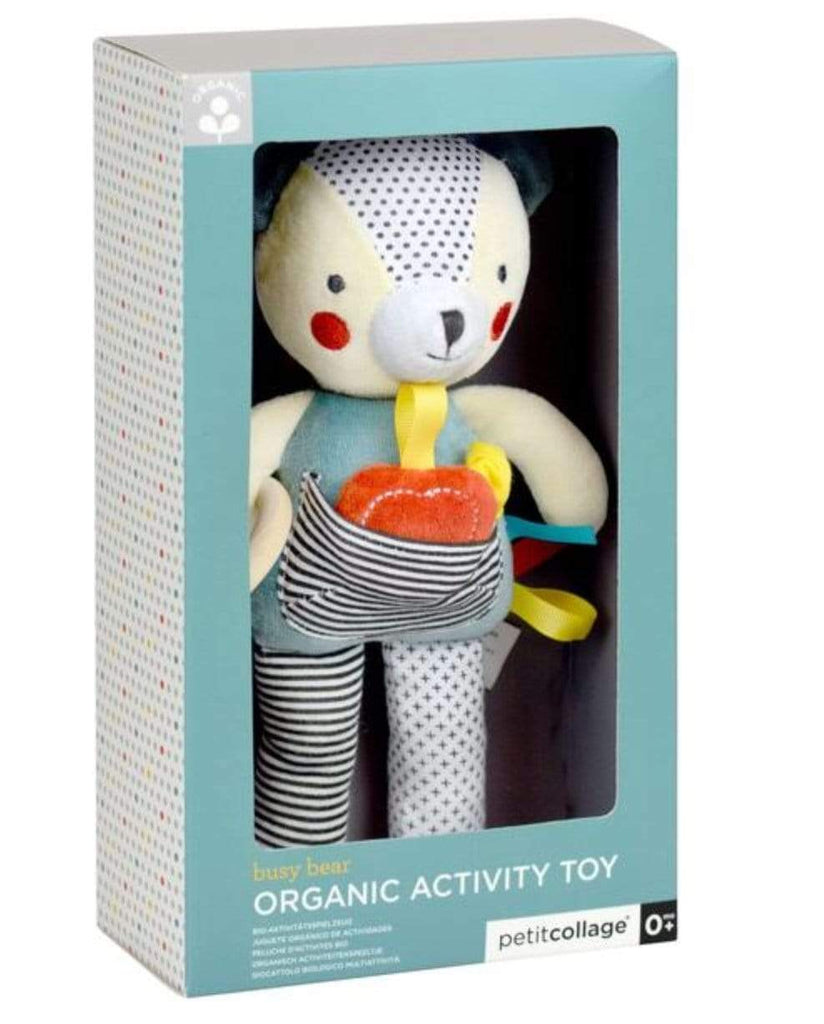 Petit Collage Birth to 12 Months Organic Activity Toy - Bear