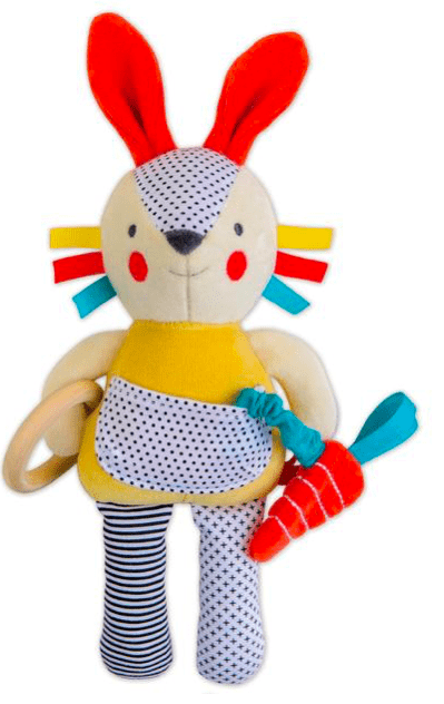 Petit Collage Birth to 12 Months Organic Activity Toy - Bunny