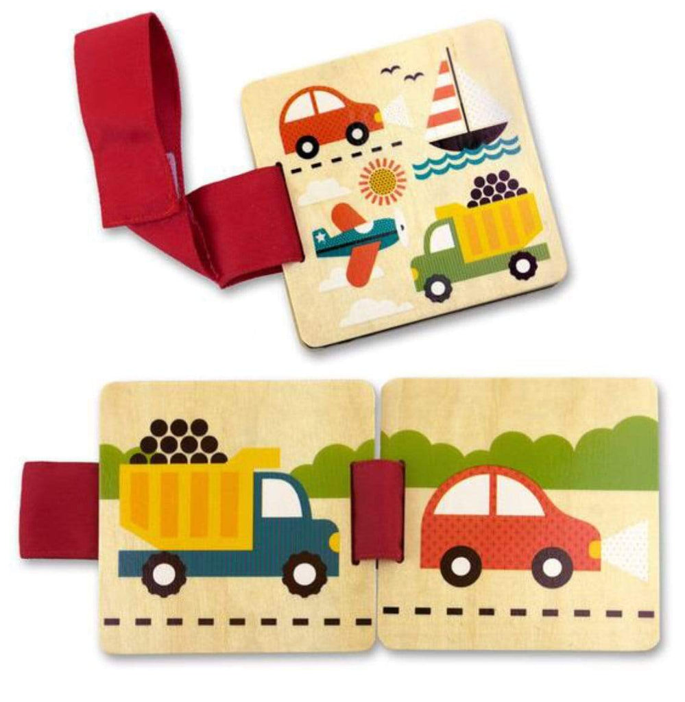 Petit Collage Board Books Wooden Stroller Book - TTG