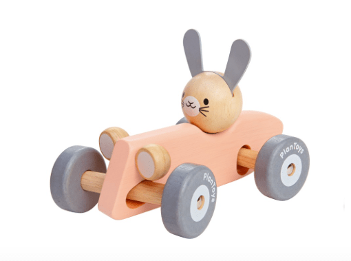 Plan Toys 12 Mths Plus Racing Car - Bunny