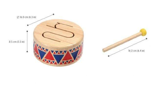 Plan Toys 18 Mths Plus Solid Drum