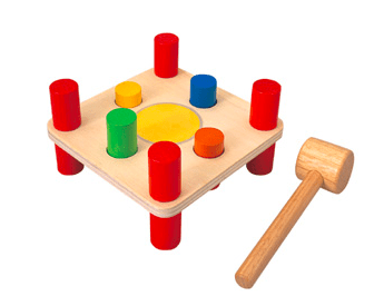 Plan Toys 2 Plus Hammer Peg