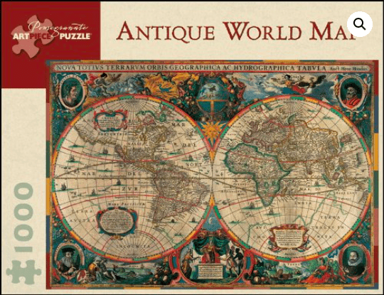 Pomegranate 14 Plus 1000 Pc Puzzle - Antique World Map