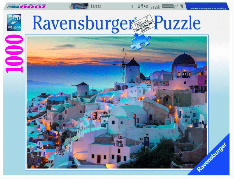Ravensburger 12 Plus 1000 Pc Puzzle - Evening in Santorini
