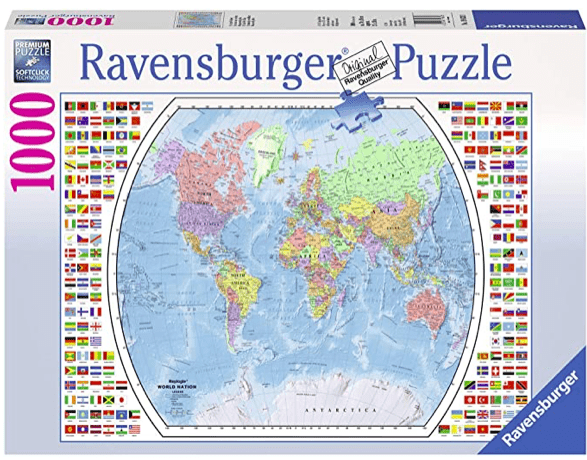 Ravensburger 12 Plus 1000 Pc Puzzle - Political World Map