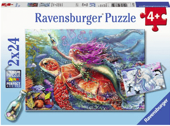 Ravensburger 4 Plus 2 x 24 Pc Puzzle - Mermaid Adventures