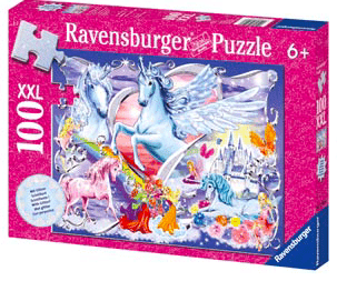 Ravensburger 6 Plus 100 pc Puzzle - Amazing Unicorns Glitter