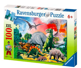 Ravensburger 6 Plus 100 Pc Puzzle - Among the Dinosaurs