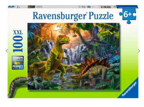Ravensburger 6 Plus 100 Pc Puzzle - Dinosaur Oasis