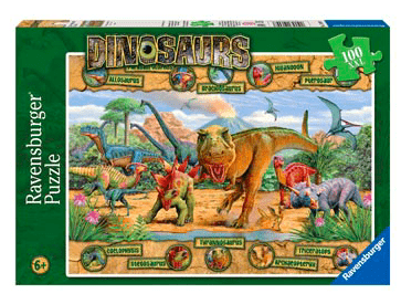 Ravensburger 6 Plus 100 Pc Puzzle - Dinosaurs