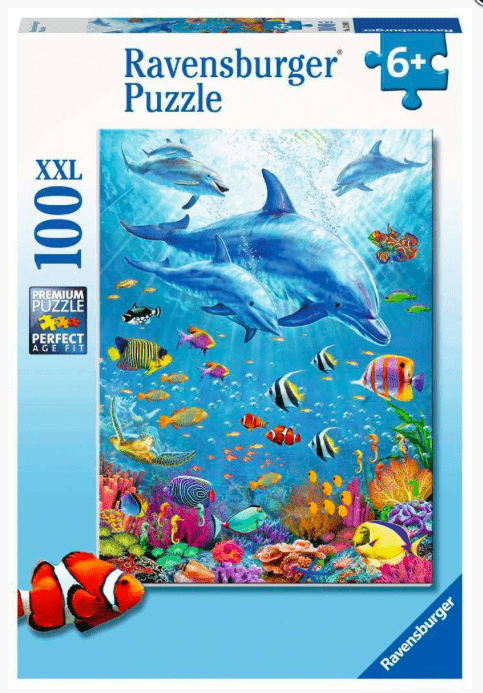 Ravensburger 6 Plus 100 Pc Puzzle - Pod of Dolphins