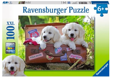 Ravensburger 6 Plus 100 Pc Puzzle - Travelling Pups