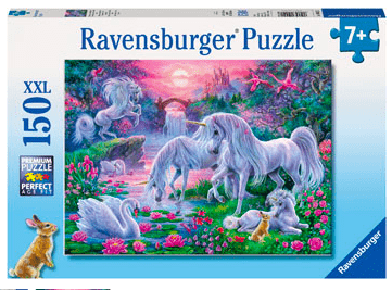Ravensburger 7 Plus 150 Pc Puzzle - Unicorns in the Sunset Glow
