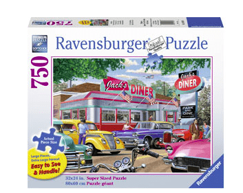 Ravensburger 8 Plus 750 Pc Puzzle  LF - Jack's Diner