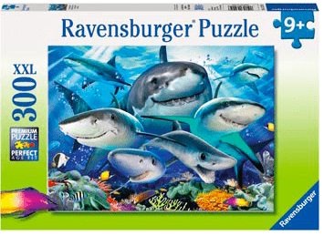 Ravensburger 9 Plus 300 Pc Puzzle - Smiling Sharks